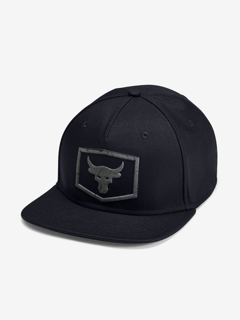 Šiltovka Under Armour Project Rock Strength Flat Brim-Blk