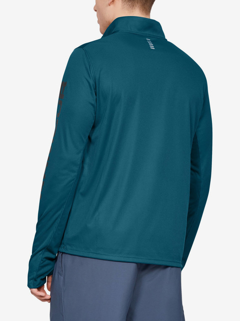 Tričko Under Armour Speed Stride Split 1/4 Zip-Grn