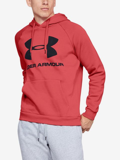 Mikina Under Armour Rival Fleece Sportstyle Logo Hoodie-Red
