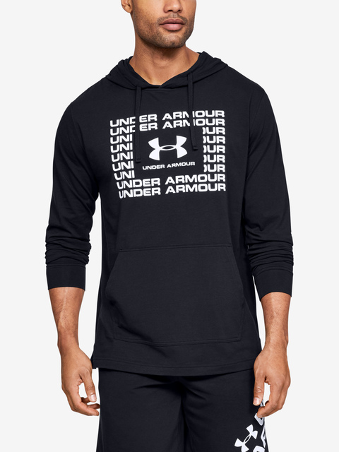 Mikina Under Armour Sportstyle Cotton Hoodie-Blk