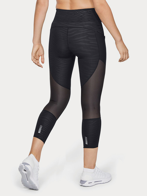 Kompresné legíny Under Armour Speedpocket Printed Run Crop