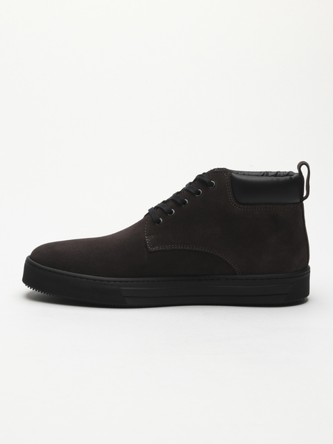 Topánky Trussardi Desert Boot Suede Logo Embossed
