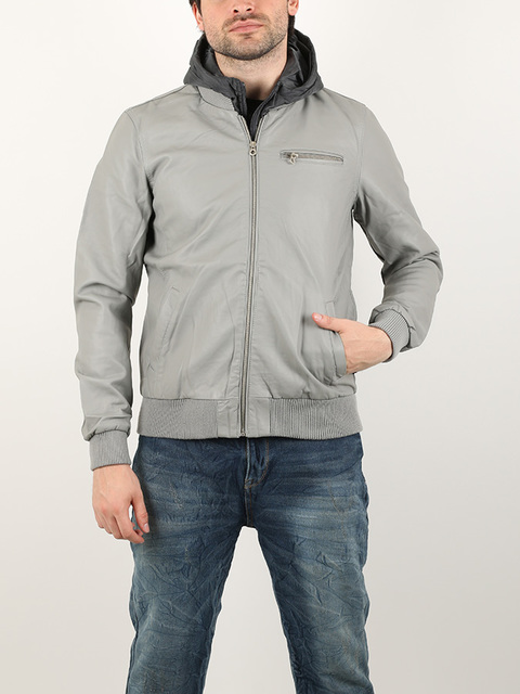 Bunda Alcott PU JACKET WITH HOOD