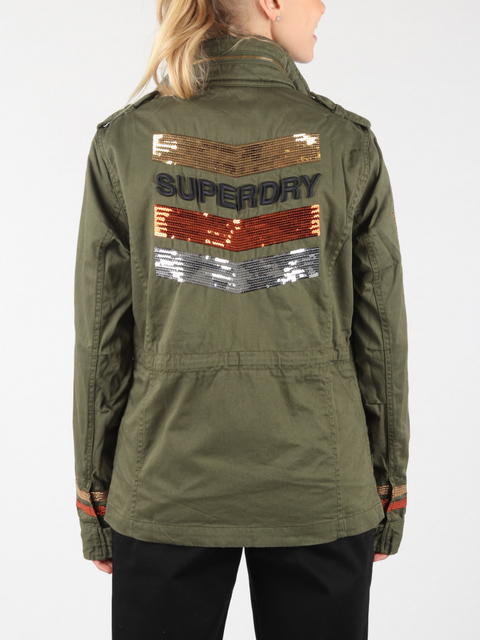 Bunda Superdry Glitter Rock Rookie Jkt