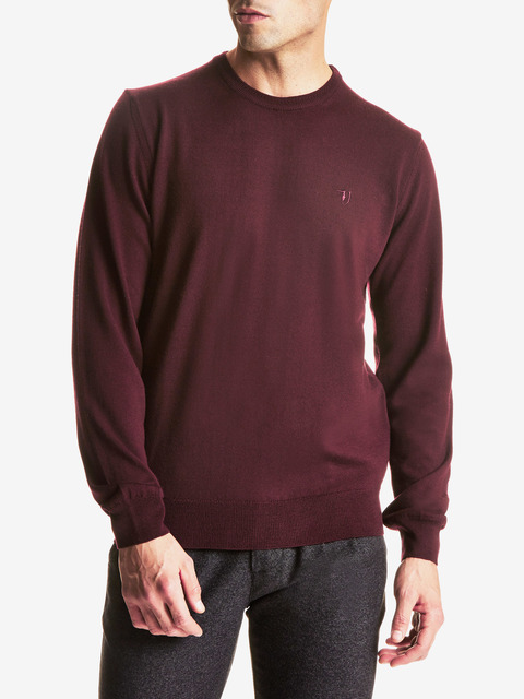 Sveter Trussardi Round Neck Regular Fit Pure Wool