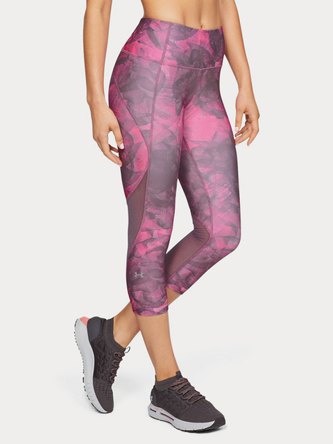 Kompresné legíny Under Armour Hg Capri Print
