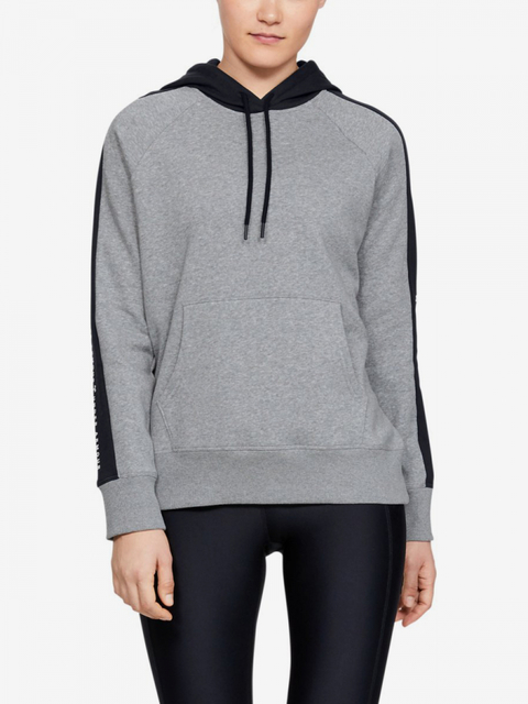 Mikina Under Armour Rival Fleece Graphic Hoodie Novelty-Gry