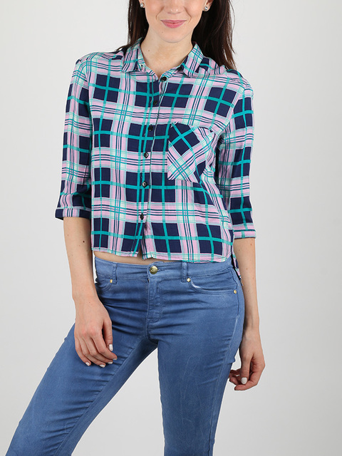 Košeľa Alcott CHECK SHIRT WITH PRINT AT BACK