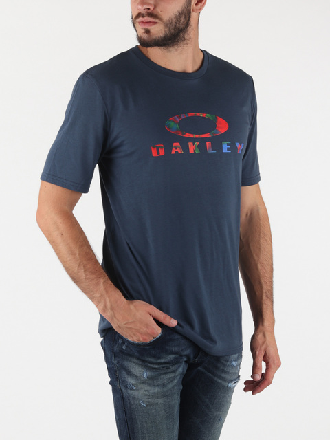 Tričko Oakley Ellipse Rainbow Tee Foggy Blue