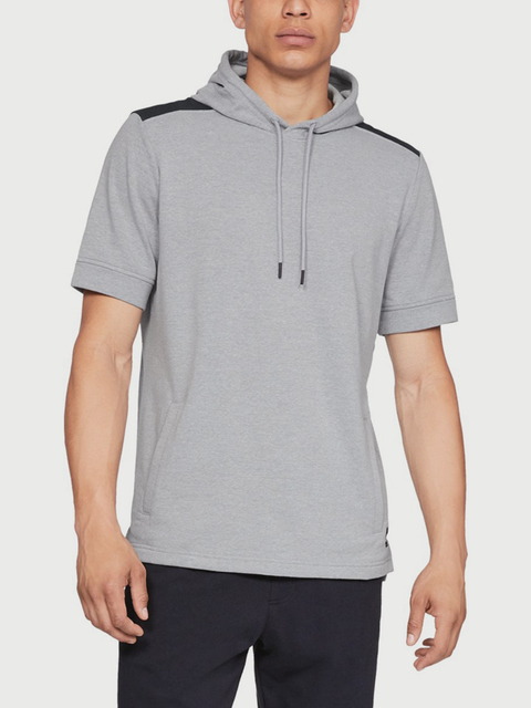 Tričko Under Armour Microthread Terry Ss Hoodie