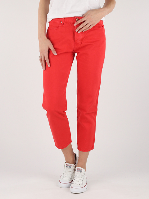 Džínsy Wrangler Cropped Straight Red