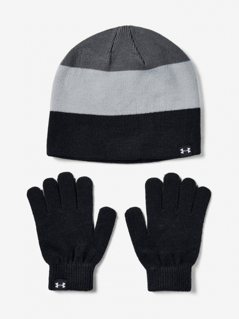 Čiapky a rukavice Under Armour Boys Beanie Glove Combo-Blk