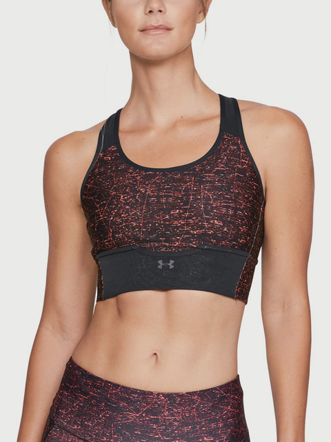 Kompresná podprsenka Under Armour Mid Crossback Clutch Printed Bra