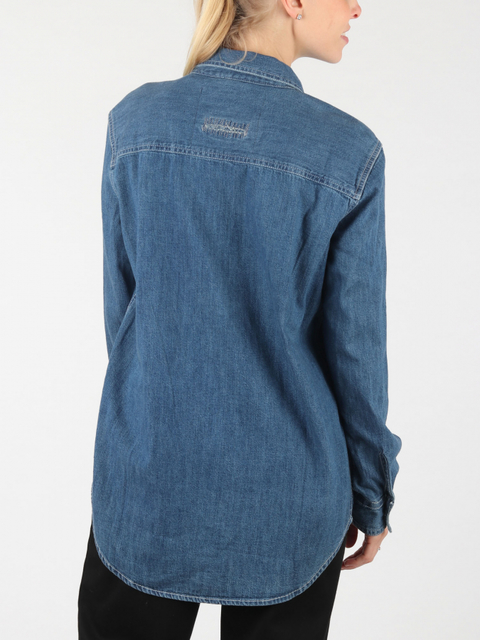 Košeľa Superdry Oversized Denim Shirt