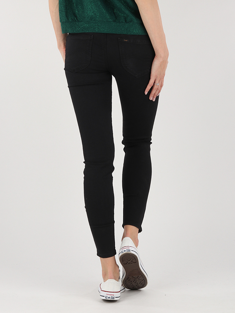 Džínsy Lee Scarlett Cropped Black Rinse