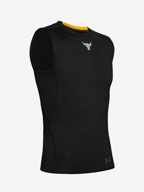 Kompresné tričko Under Armour Project Rock Hg Sl-Blk