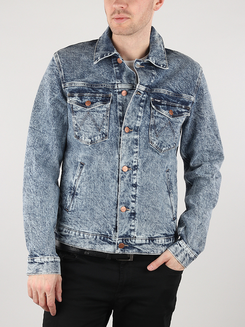Bunda Wrangler Regular Jacket Glace Blue