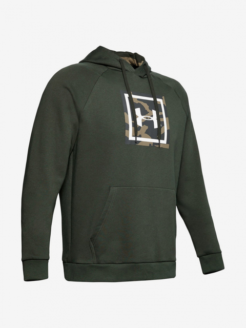 Mikina Under Armour Rival Fleece Printed Hoodie-Grn
