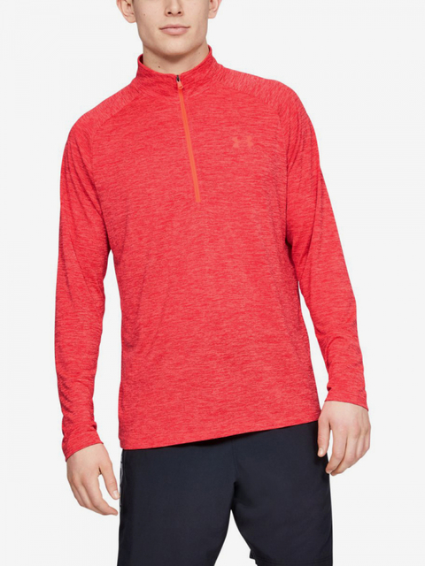Tričko Under Armour Tech 2.0 1/2 Zip-Red