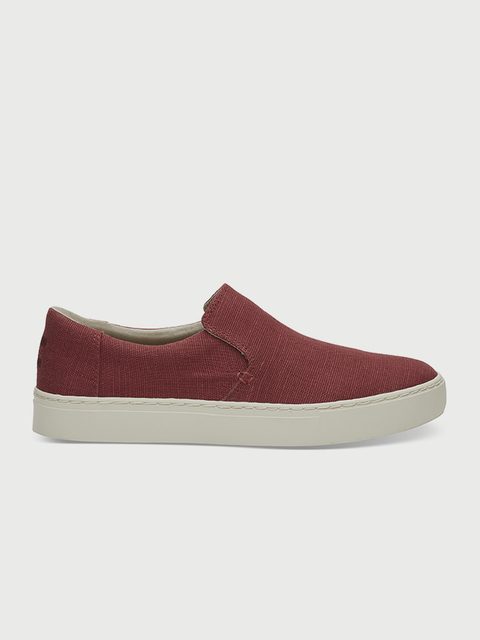 Topánky Toms Henna Red Heritage Canvas Mn Loma Slipon
