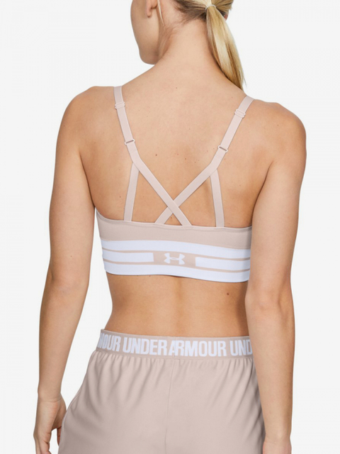 Kompresná podprsenka Under Armour Seamless Longline Bra-Pnk