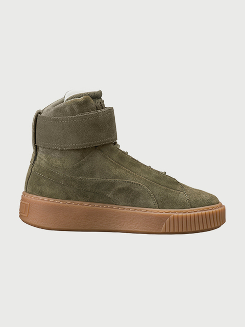 Topánky Puma Platform Mid Ow Wn S Olive Night-Olive