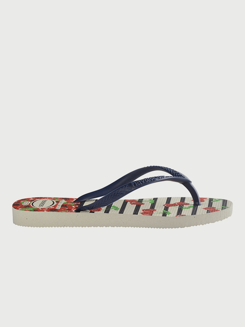 Žabky Havaianas Kids Slim Fashion White/Navy Blue