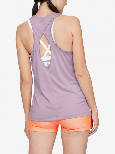 Tielko Under Armour Tech Tank - Graphic-Pnk
