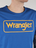 Tričko Wrangler B&Y Logo Tee Nautical Blue (3)