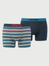 Boxerky LEVI'S 200Sf Multi Col Rugby Stripe Boxer Brief 2 Pack (1)